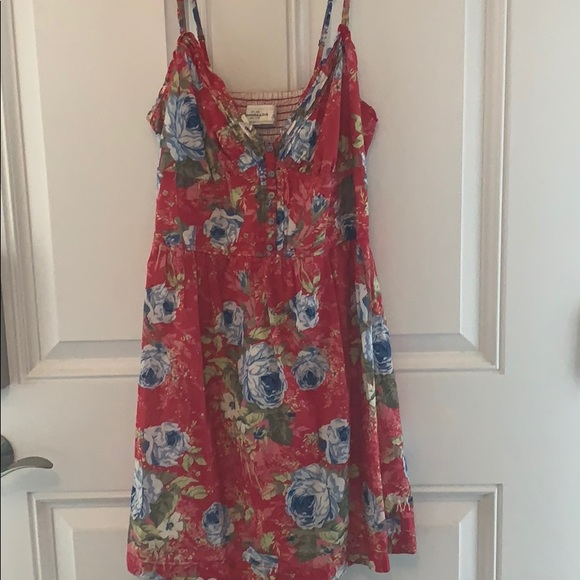 Abercrombie & Fitch Dresses & Skirts - Abercrombie & Fitch - red sundress size L